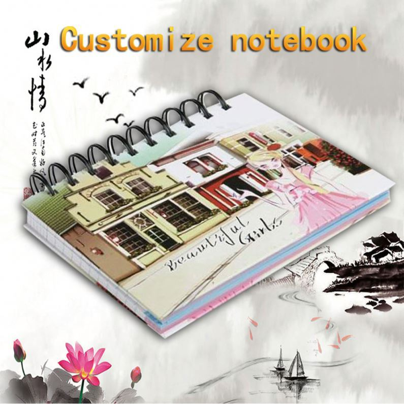 Custom 2016 Agenda Diary Hard Plastic Cover With 3D Spiral Notebook