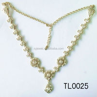22k gold diamond necklace hair accessories for kids jewelry set