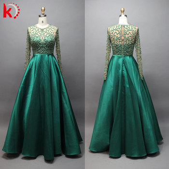 Beaded Ball Gown Long Sleeve Plus Size Evening Dress Buy Plus Size