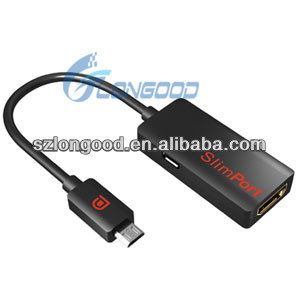 New Slimport to HDMI Adapter for 2nd Google Nexus 7 for Nexus 4 for LG optimus G pro for Fujitsu Arrows Tab