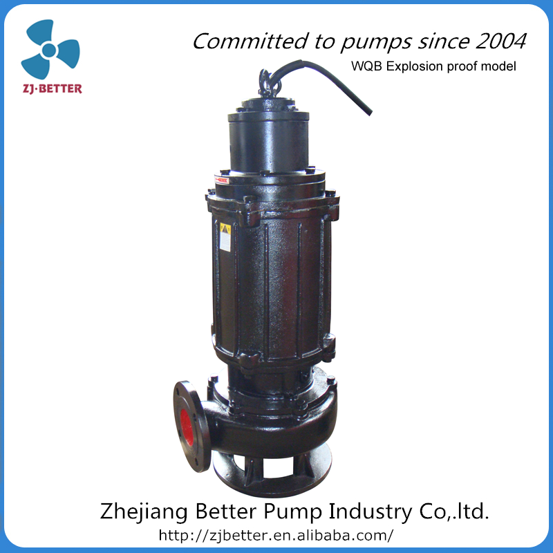 WQB explosion-proof non-clogged centrifugal submersible sewage pump