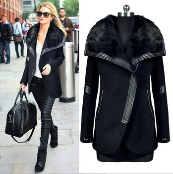 EY0256A 2015 Winter Coats With Fur Hood For Woman Coat, Real rabbit fur FasHion Coat