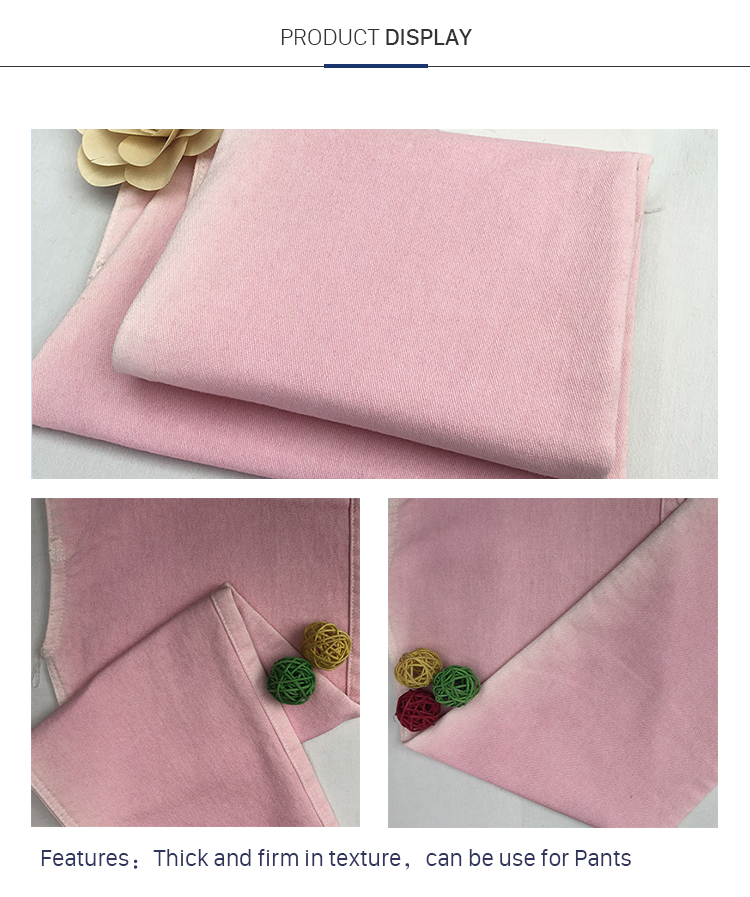 China Factory Double Layer Cotton Polyester Spandex  Fabric