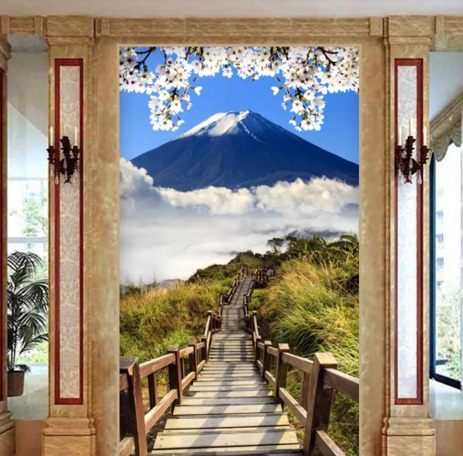 Terkenal Gunung Fuji Di Jepang Pemandangan Desain Wallpaper