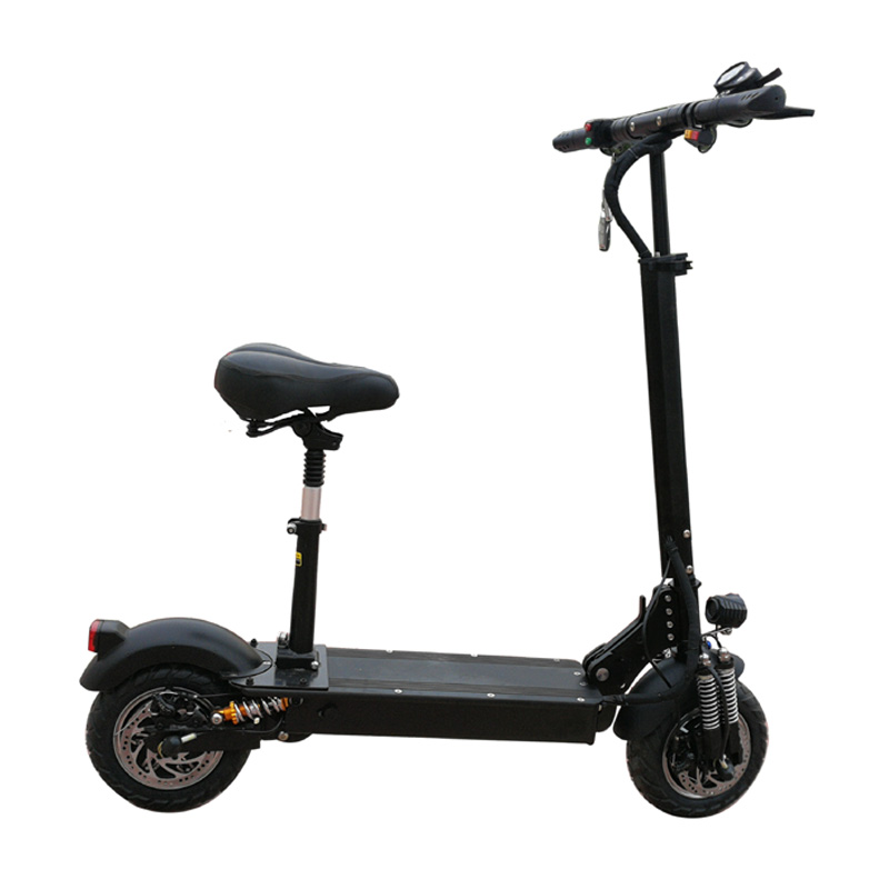 Cheap Wholesale Foldable 11 inch 52V Dual Motors Electric Scooter 2000W, Black
