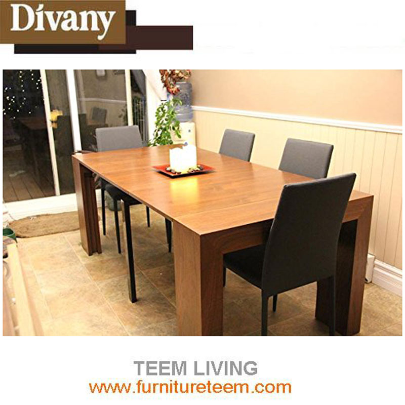 double layer philippine mahogany dining table adjustable dining table