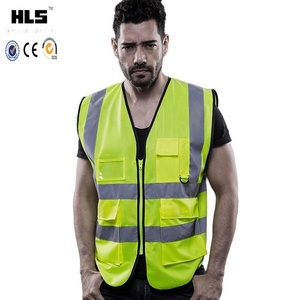 2018 The Most Durable Quality Assurance Custom Outdoor Reflective Transparent Soldering Safety Running Protection Vest
