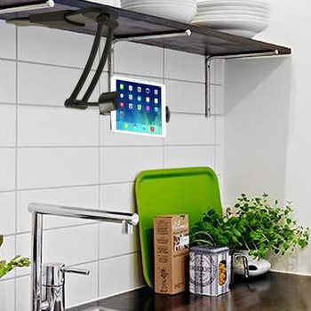 Universal Desk Hutch Stand Kitchen Cabinets Tablet Mount Holder For IPAD