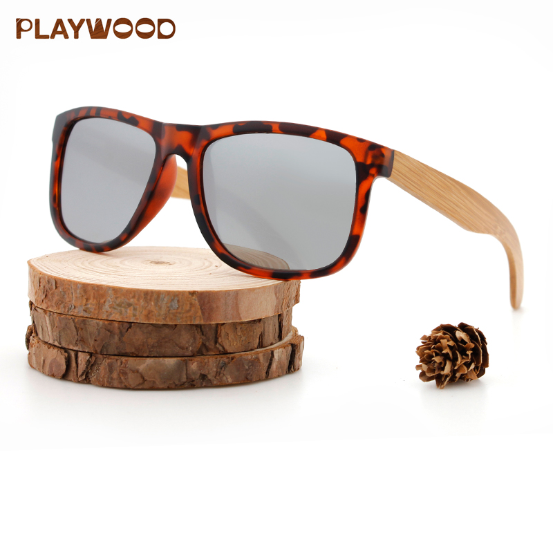 Wood Sunglasses PC Frame Handmade Bamboo Sunglasses фото