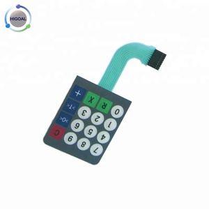 High Quality stanley photoelectric switch display screen keypad membrane switch with el backlight keypad
