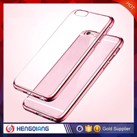 For iphone 6s case tranparent soft tpu phone case with edge plated for iphone 6s