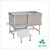 BS0707 Stainless Steel Pet Bathtub with foot stool