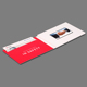 Promotional 7 Inch Lcd Video Greeting Invitation Video Card, Lcd Video Brochure Card