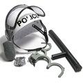 5Pcs set kids toys Riot Police Hat Cosplay Kids Helmet Cop Handcuffs Walkie Talkie Badge Pretend
