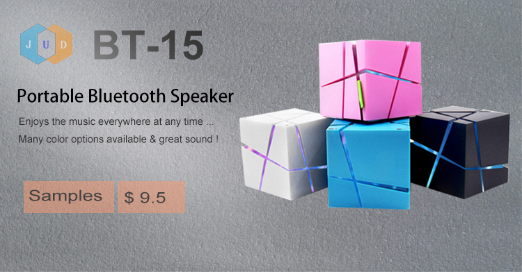 2019 fantasia levou quadrado cubo sem fio BT alto-falante LED estéreo Magic Cube Music Player Mini Speaker Bluetooth cúbico com luz Led