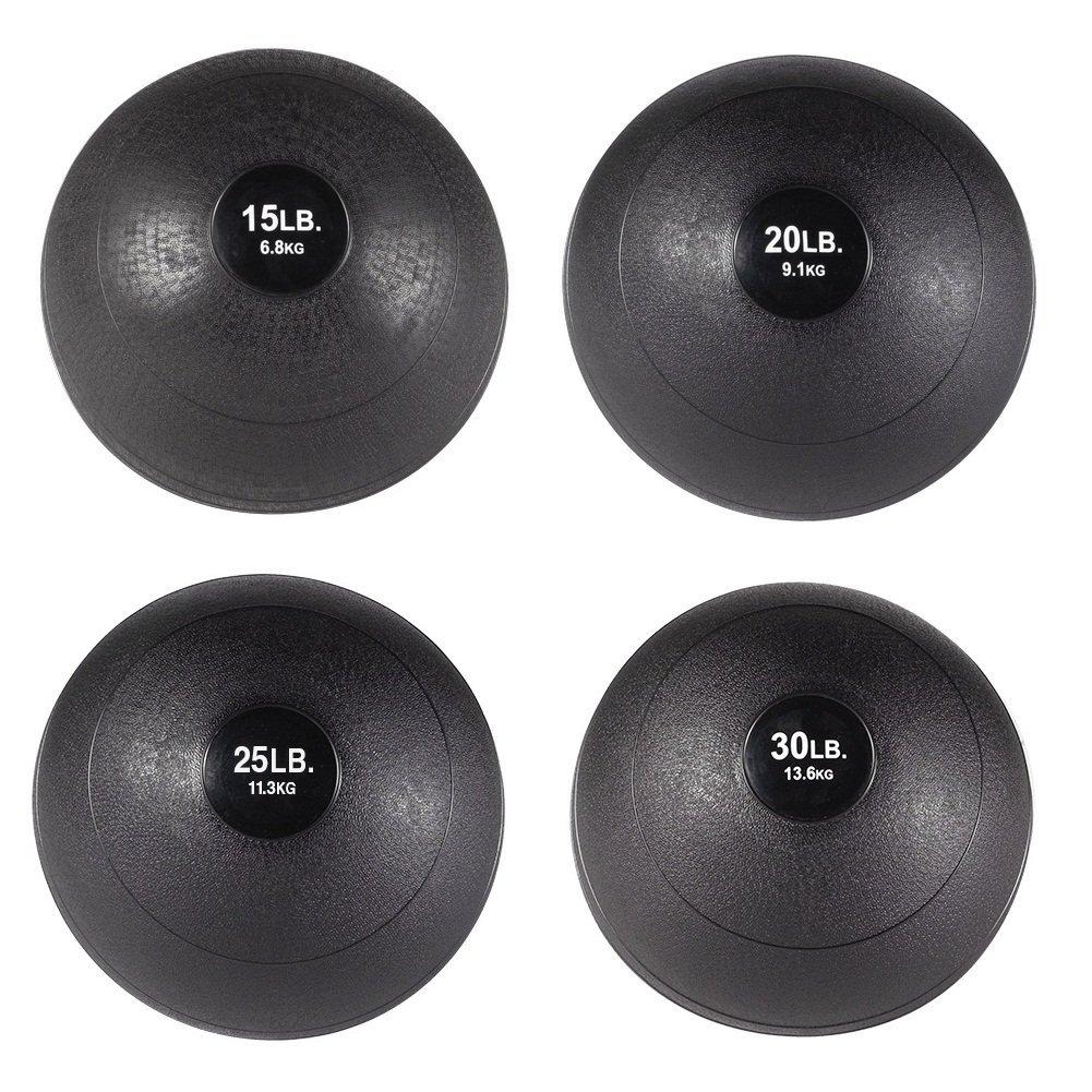 Body-Solid Slam Ball Set - 15, 20, 25, 30 lb. Non-Bounce Medicine Balls