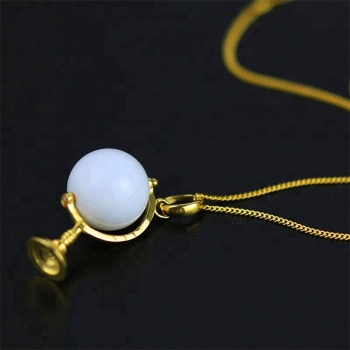 Cute 925 Silver Globe Design Natural opal pendant