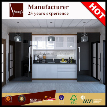 Ak1612 wholesale ready made i shaped modular kitchen for Cheap ready made kitchen cabinets