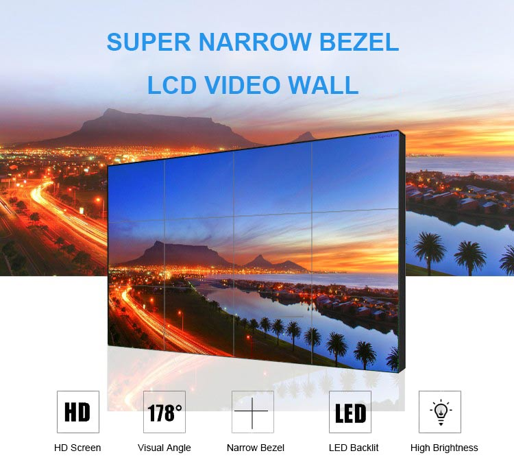 super thin lcd video wall