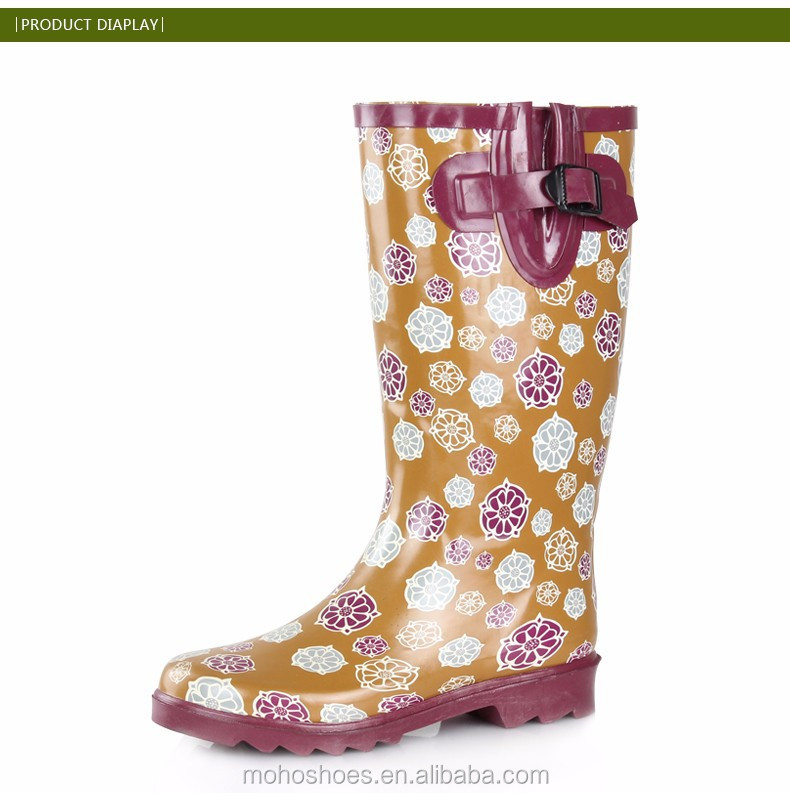 Wholesale Women Rubber Wellies Rain Boots