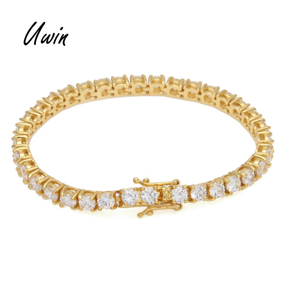 Tennis Bracelet with CZ Hiphop Diamond Tennis Chain for Men Zirconia Bracelets Gift Wholesale Jewelry фото