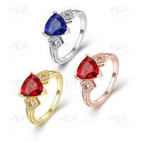 KZCR212 Latest Gold Ring Designs Blue Zircon jewelry Ring