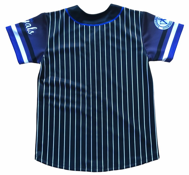 2017 new style embroidered flat knit stripe sewing pattern baseball jersey