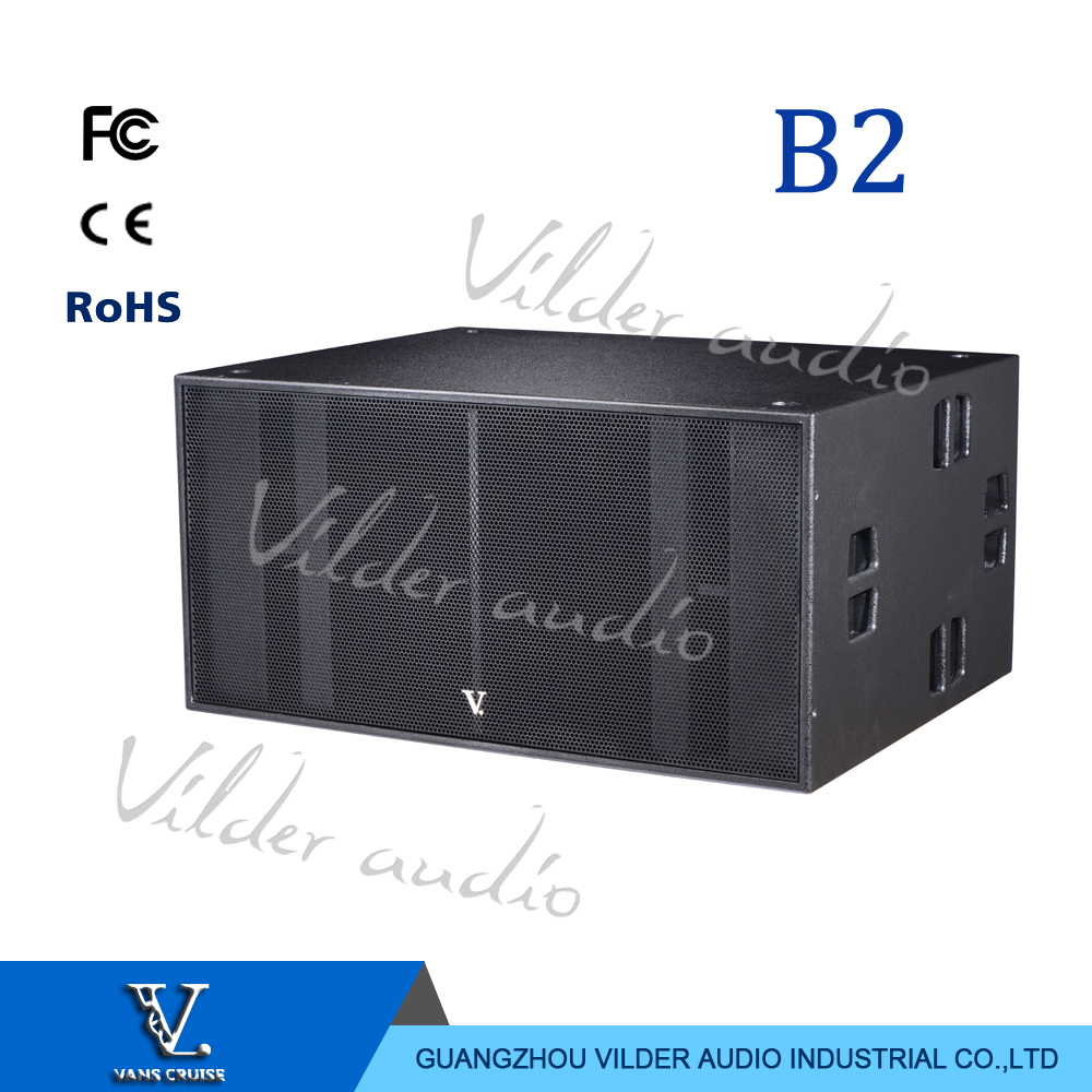 V. Audio B2 Big Box Double 18'' Woofer Professional Speaker Outdoor Subwoofer Pro Audio For Big Show