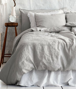 Great Nature French Flax Linen Stone Washed Bedding Set