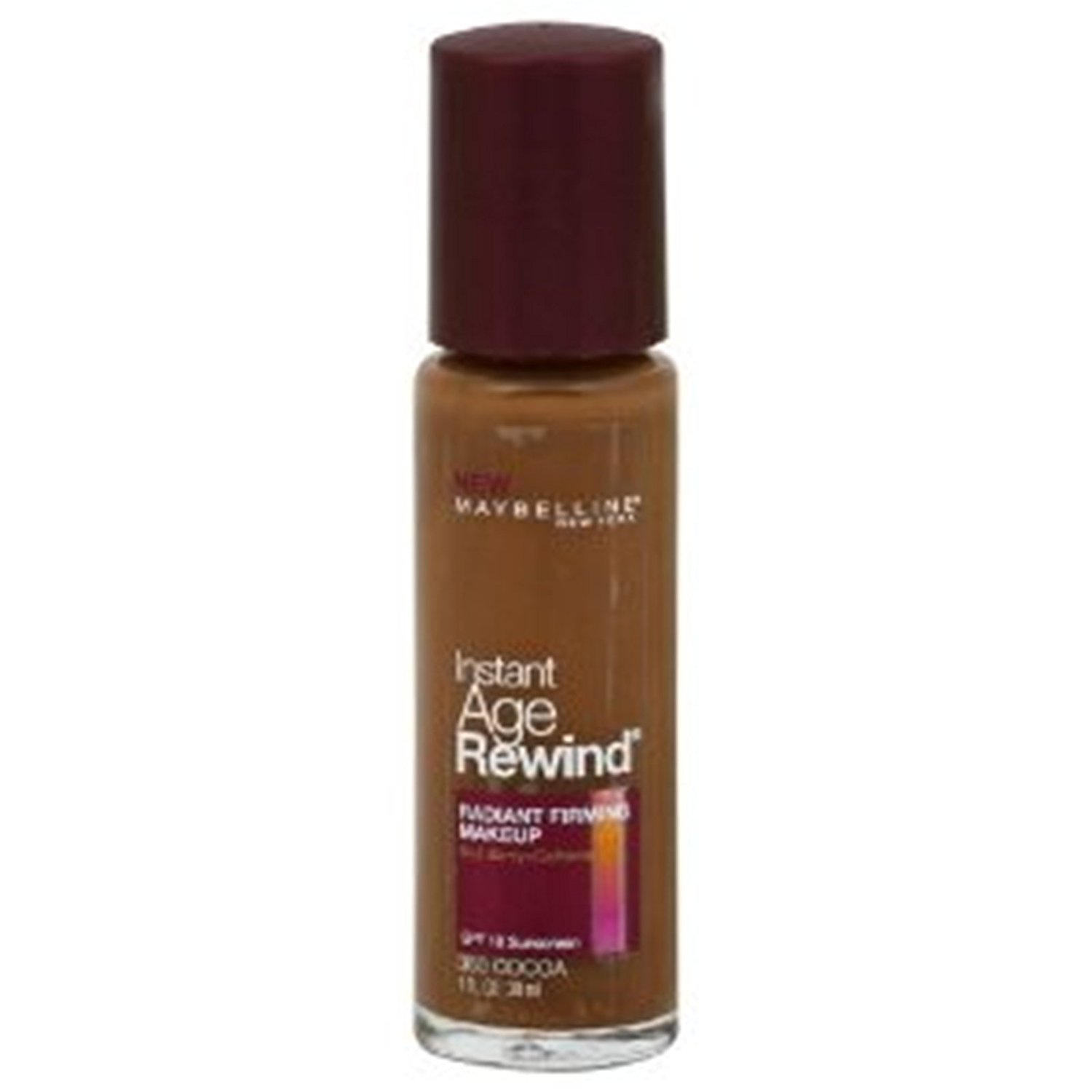 (2 Pack) Maybelline New York Instant Age Rewind Radiant Firming Makeup, Cocoa 360, 1 Fluid Ounce