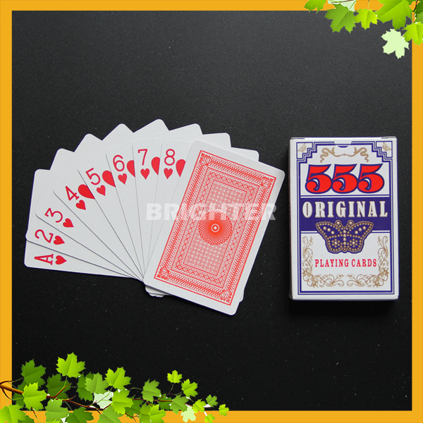 026 Original Matte Finish UV Print 555 playing cards