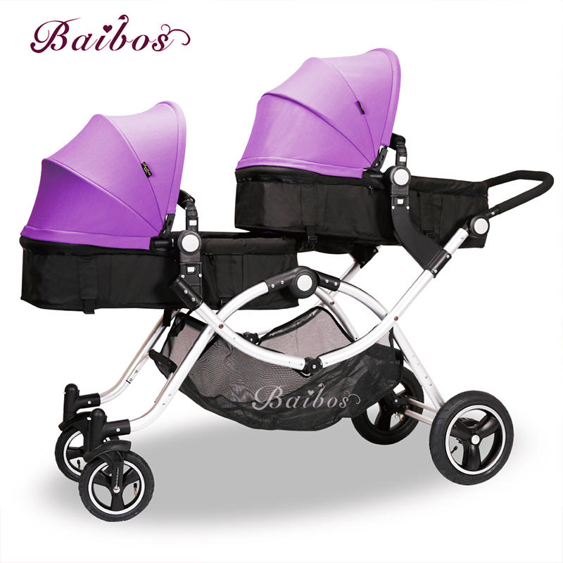 Wholesale Infant twin baby stroller with high quality BBS double baby doll pram фото