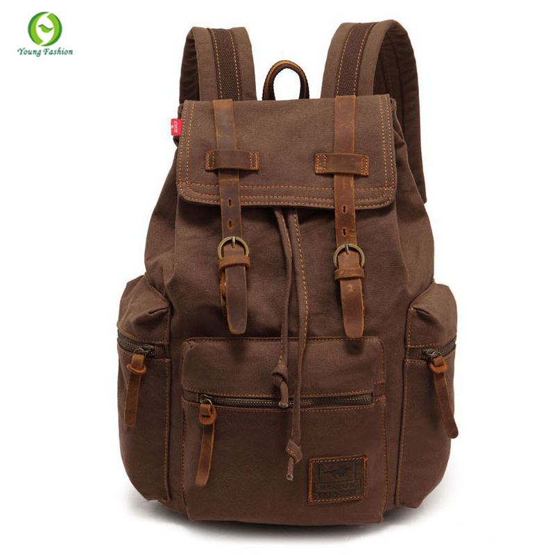 new Best Selling Cathylin unisex trend fashion Canvas backpacks men's hiking backpacks women's traveling daily backpack