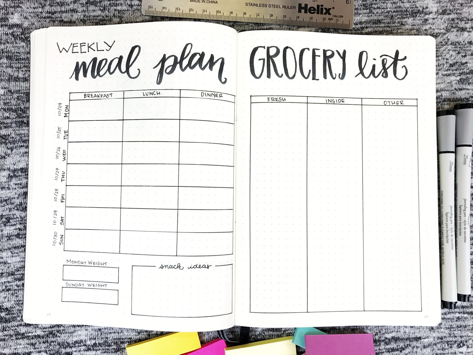 Meal Food Health Diary Planner for Healthy Living and Weight Loss
