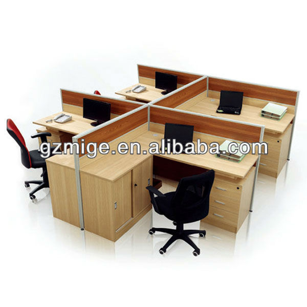 Cubic Desk Workstation Wood Furniture
