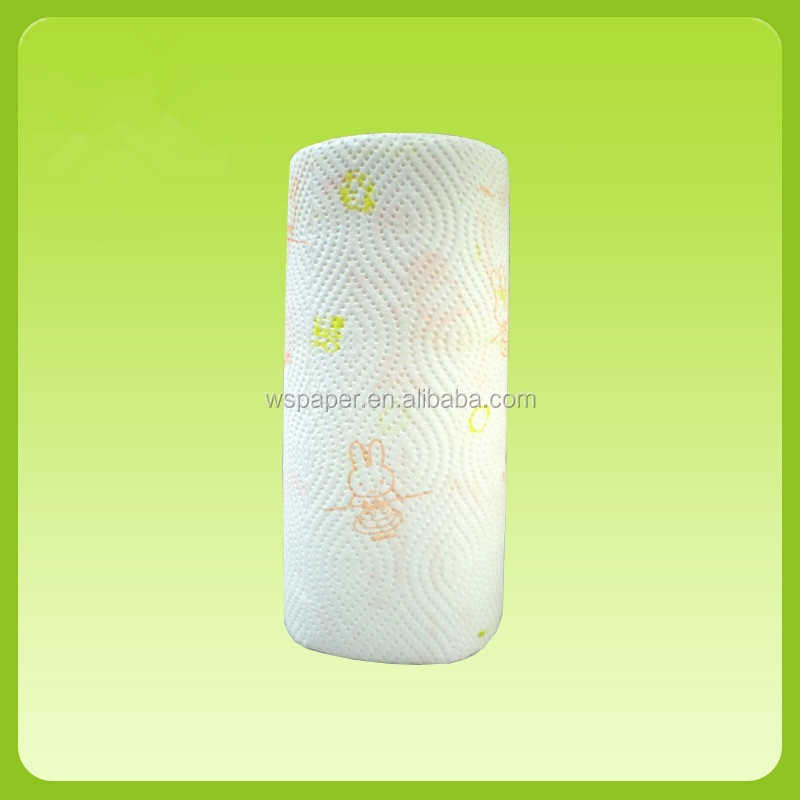 Factory manufacture Super Absorbent Embossed printing  kitchen paper towel roll