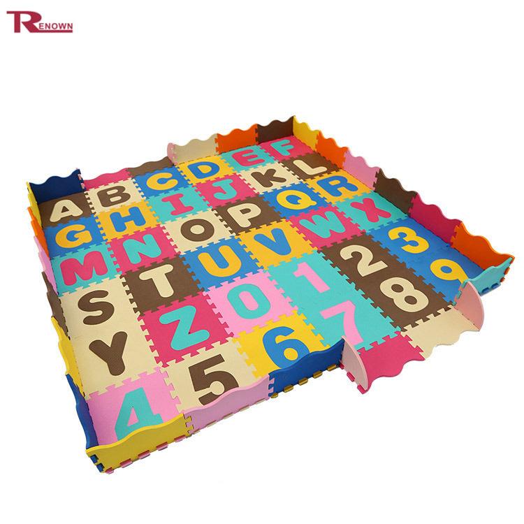 Blocks, Tiles & Mats Toys & Hobbies Non-toxic Eva Foam Interlocking 26-letter Educational Abc Floor Mat Elegant Appearance