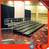 adjustable aluminum frame plywood cover choral stage