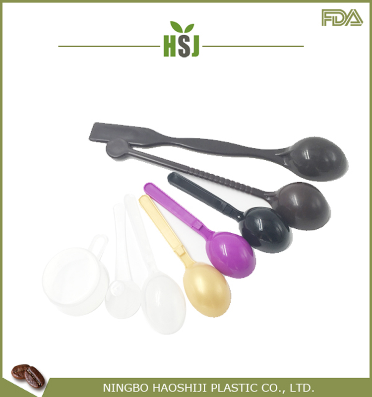 2018 New Hot Fashion Crazy Selling crystal clear plastic serving spoon