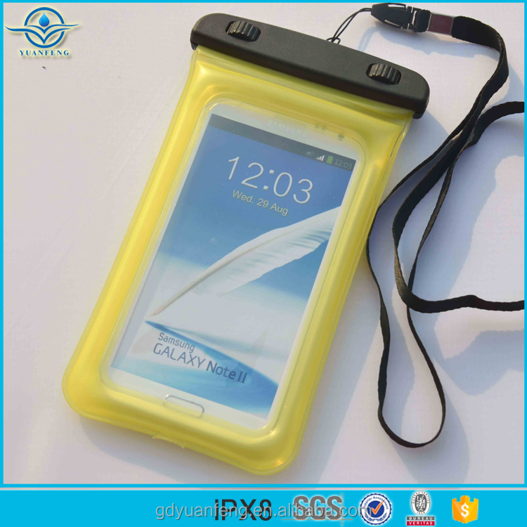China Supplier Wholesale PVC Waterproof Floating Cell Phone Case for Smart Phone