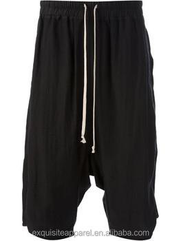 626bbc8fb4 2016 custom design preto cor capri bermuda de malha para homens cordão  bermuda capri Made in