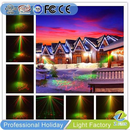 New Design Outdoor Green Red Laser Project Xmas Lawn House Lighting