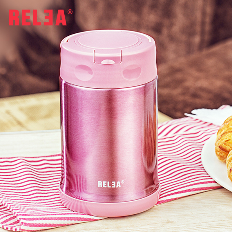 RELEA Hot Cold thermos food storage warmer container with capacity of 500ml stocked