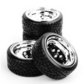 1 10 Scale RC On Road Car Model Toys Accessory Drift Speed Tyres Tires Wheel Rim