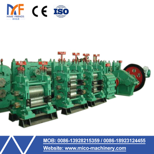 Professional technical team support hot rolling mill making steel bar/ rebar producing line