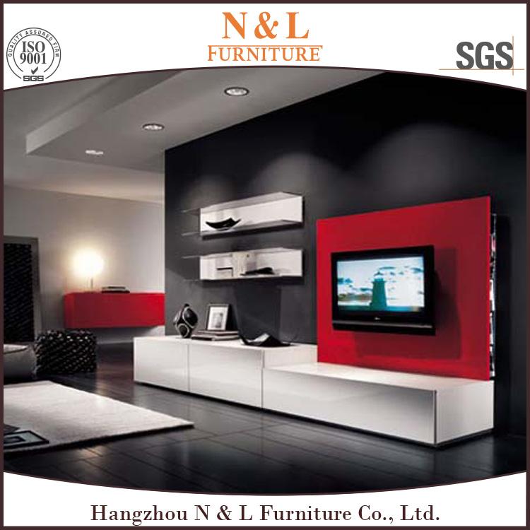 2017 vente chaude meubles de salon Moderne bois meuble tv, table ...
