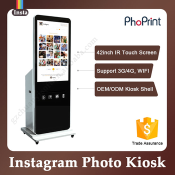Portable Party Selfie Printing Kiosk Photo Booth Business Floor Standing Sticker Product