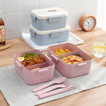 Chinese tableware food grade biodegradable lunch box set, lunchbox