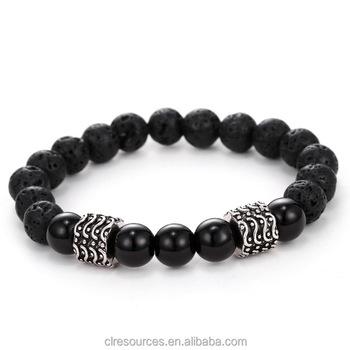Fashion Elastic Retro Volcanic Stone Bracelet Energy Beads Men S Jewelry Whole