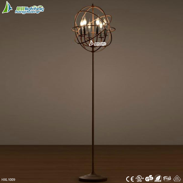 <strong>Modern</strong> and Fassion Loft retro industrial metal globe floor lamp for style#HXL1009